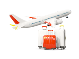 china luggage with airplane 256